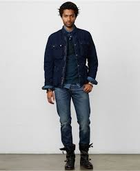 denim motorcycle jacket denim u0026 supply ralph lauren indigo quilted motorcycle jacket in