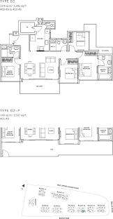 Sqm To Sqft by The Glades Condo Floor Plan U2013 4br Suite U2013 D2 U2013 119 Sqm 1281 Sqft
