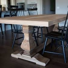 Industrial Pedestal Table Dining And Kitchen Tables Farmhouse Industrial Modern