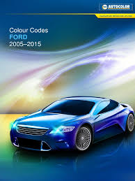 ford color codes 2001 2015