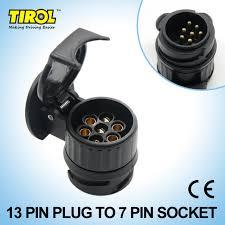 tirol 13 to 7 pin trailer adapter black plastic trailer wiring