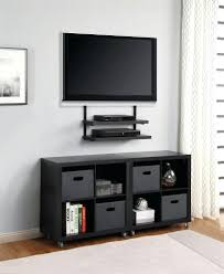 tv stand classic living room area with black free standing