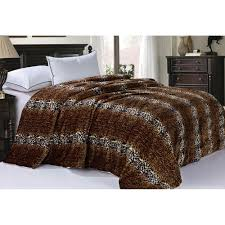 Restoration Hardware Faux Fur Bnf Home Cheetah Animal Sherpa Queen Faux Fur Bedding Bed Blanket