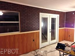 can you paint paneling epbot diy faux brick painting tutorial