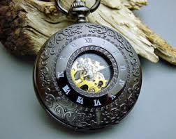 Engravable Items Pocket Watch 1882 U0027s Archaize Black Mechanical Engraved