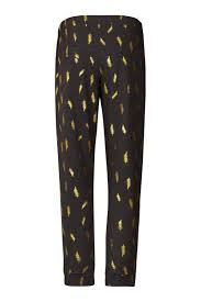 lollys laundry lollys laundry gold feathered sweatpants from netherlands by the