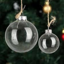 transparent glass balls tree ornaments pendant decor