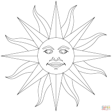inti incan god sun coloring free printable coloring pages