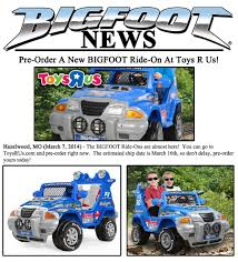 bigfoot monster truck toys news u2013 2014 u2013 pre order a new bigfoot ride on at toys r us