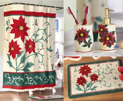 how to decorate you bathroom for christmas christmas loaded xmas carnation home fashions christmas floral 16 piece bath set