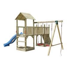 si ge b b balan oire balançoire en bois avec toboggan balancoire portique en bois soulet