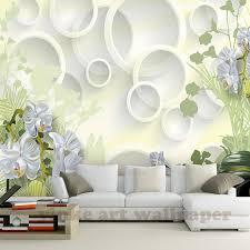 wallpaper bunga lingkaran foto dinding kertas 3d stereo bunga lingkaran mural wallpaper ruang