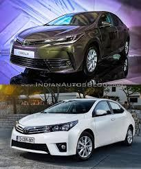 toyota altis 2016 toyota corolla facelift vs older model old vs new