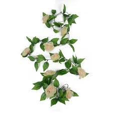 8ft artificial fake silk rose flower ivy vine garland wedding