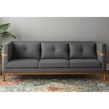 Modern Gray Leather Sofa Furniture Furniture Tufted Sectional Sofa Chaise Modern Leather