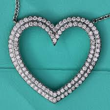 chain heart necklace tiffany images 13 off tiffany co jewelry tiffany co metro large diamond and jpg