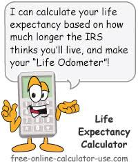 joint survivor annuity tables irs le calculator calculate life expectancy and lifetime meter