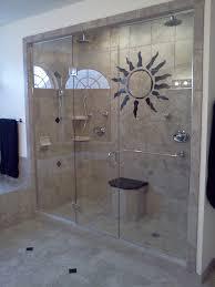 Custom Glass Doors For Showers by White Floor Black Dark Wall Custom Glass Shower Doors Steel Frame