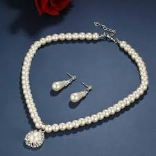 vintage necklace sets images 17km vintage african beads simulated pearl wedding jewelry sets jpg
