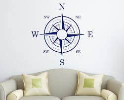nautical compass wall decal zoom
