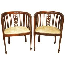edwardian bedroom furniture for sale pair of mahogany inlaid edwardian period antique bedroom chairs at