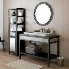 Wrought Iron Bathroom Shelves Asana Round Wrougth Iron Framed Wall Mirror Mr708 Native Trails