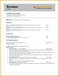 Resume For Educators 8 Entry Level Elementary Teacher Resume Cashier Resumes