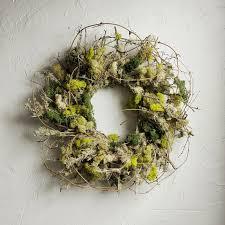 twig wreath moss twig wreath williams sonoma