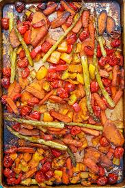 balsamic roasted vegetables the weary chef