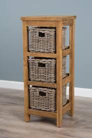 storage unit with wicker baskets reclaimed teak storage unit storage chest with 3 kubu grey natural