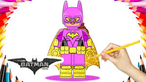 the lego batman movie batgirl coloring book pages video for kids
