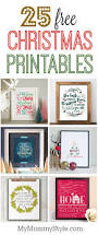 25 free christmas printables my mommy style