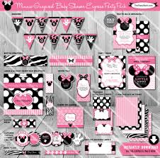 minnie mouse baby shower party package printable baby