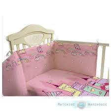 Princess Cot Bed Duvet Set Childrens Nursery Bedding Set 3pc Cot Bumper Baby Duvet Quilt