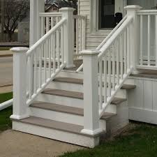 safety first install an outdoor staircase railing concrete anchors