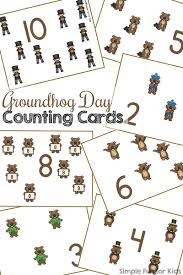 groundhog day cards groundhog day counting cards 1 12 simple for kids