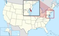 usa map states delaware