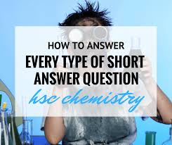 how to answer common hsc chemistry questions