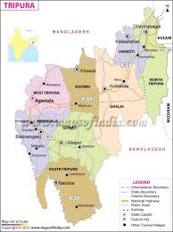 Map Of India With States by Tripura Map State Districts Information And Facts