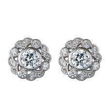 earring stud chrisanta s cz vintage stud earrings