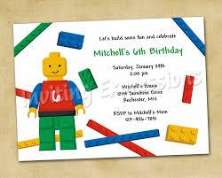 lego blocks boy birthday invitations lego duplo party