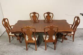 pieces walnut dining room set