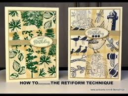 cardmaking video tutorial the Retiform Technique  JanB demos
