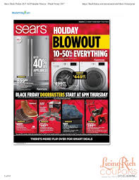 sears black friday ad hours deals living rich with coupons