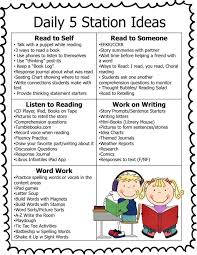 the daily five printables 51 best school images on classroom ideas behavior