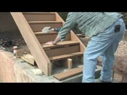 how to build a deck building a deck treads u0026 risers youtube