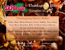 thanksgiving dinner at ski brule is the best way to spend the