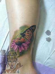 Flower Butterfly Tattoos 01 Cover Up Ankle Flower Of Flower Butterfly Monarch Orange Color