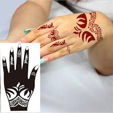 2pc india mehndi hand leg foot henna stencil henna art body tattoo