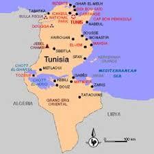 tunisia on africa map sidi bou said map tunis tunisia africa